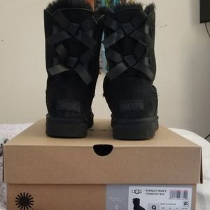 Bailey Bow Black Boots